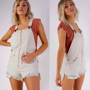 Free People Sunkissed Denim Short Overalls Jumper